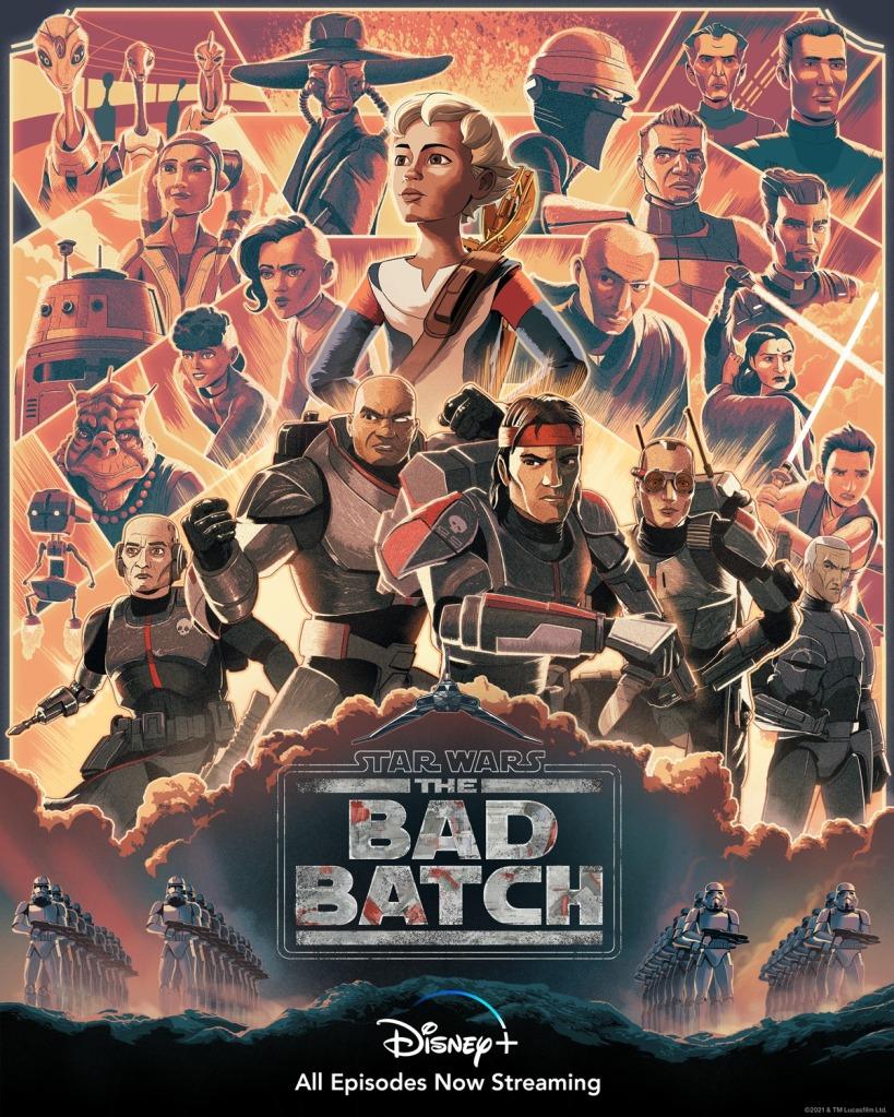 'Star Wars: The Bad Batch' season finale poster by Guy Shield